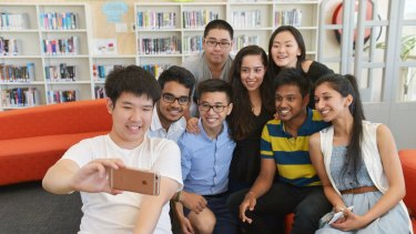 VCE students from Nossal High school celebrate the completion of year 12 and the school's VCE ranking.