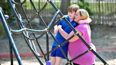 Jennifer Andersen with her five-year-old son William, who missed out on early intervention services.