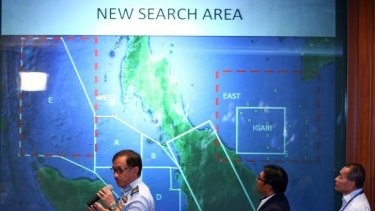 Major General Datuk Affendi Buang briefs the media on the missing plane.