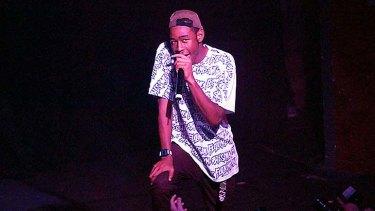 Tyler Okonma on stage in Brisbane. Photo Justin Edwards