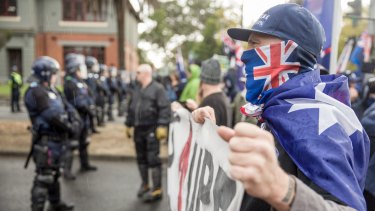 """Patriots"" in Melbourne: It can't be said that these people represent Australia."