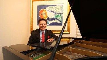 Grand visions ... .Lyndon Terracini behind his grand piano.