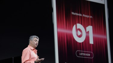 Eddy Cue, senior vice president of internet software and services at Apple, introduces the streaming radio station Beats 1.