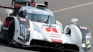 Before: Duval on track during practice at Le Mans.