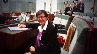 The Twitter picture of new independent MP Cathy McGowan that is a parliamentary no-no.