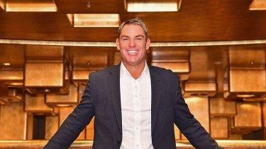 Kwickie has managed to swing key celebrity endorsements including from Shane Warne (pictured) and former NBA and Boomers star Shane Heal.