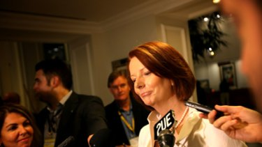 Julia Gillard reacts to Tony Abbott's 'jetlag' excuse for refusing a trip to Afghanistan.