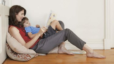 The age of innocence … Anna Goldsworthy reading to her son.