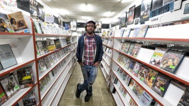 Rob Jones  is shutting his video store Movie Reel, one of the last left in the inner suburbs, in Northcote.