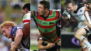 Destined for greatness ... James Graham, left,  Sam Burgess, centre, and Gareth Ellis.
