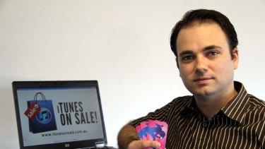 Feeling Apple's wrath ... iTunesonsale.com.au founder Rowan Coe.
