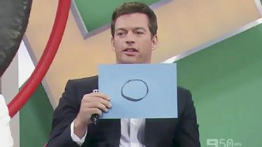 Disgusted … Harry Connick jnr during the Red Faces ''Blackface'' segment. Photo: Channel Nine
