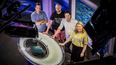 End of the line ... The ACT's popular local 7.30 team prepares for its final broadcast in December 2014.