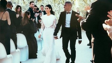 Did this wedding photograph of Kim Kardashian and Kanye West also take four days to edit?