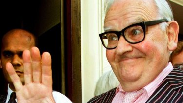 Ronnie Barker ... his son fronted court yesterday.