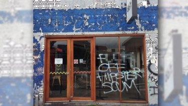 8-Bit Burgers at Footscray vandalised over the weekend.