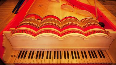 Take a bow: The viola organista's strings are played in the same way as a cello.