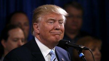 Republican presidential candidate Donald Trump