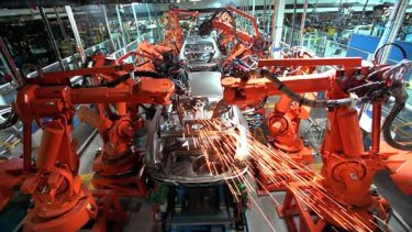 Cars on the production line at Ford's Broadmeadows operation.