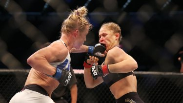 Athleticism and courage? Holly Holm lands one on Ronda Rousey.