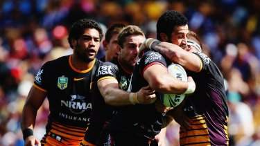 Fierce battles: The Warriors and Broncos traditionally have hard-fought clashes.