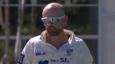 Australian Test star Nathan Lyon was concussed during a warm-up game for NSW.