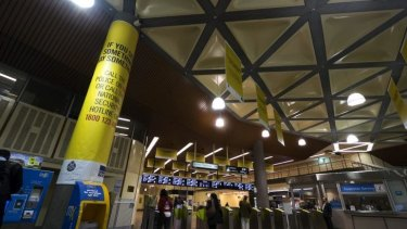 Advertising at Flagstaff Station.