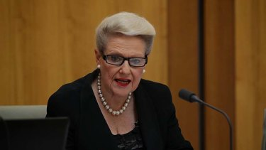 Tightening the ban: Bronwyn Bishop and the Coalition government.