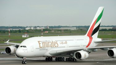 An Emirates Airbus A380 was forced to land at Perth Airport today after a passenger fell ill on board.