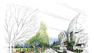 An artist's impression of Wirraway in the Fishermans Bend urban renewal zone.