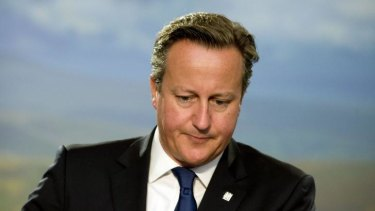Under pressure: British Prime Minister David Cameron.