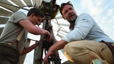 Ryan Corr, left,  as Art and Russell Crowe as Joshua Connor in <i>The Water Diviner</i>.