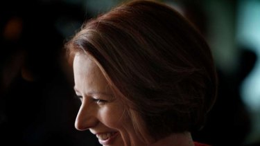 Press ahead ... Julia Gillard.
