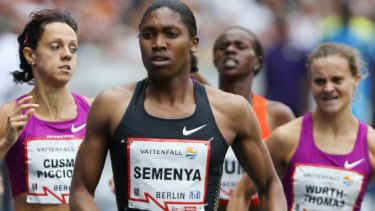 Struggling to keep up  . . . rivals of Caster Semenya have criticised her inclusion into women's athletics following the South African's easy victory in Berlin.