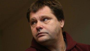 Belgian prisoner Frank Van Den Bleeken attending a hearing to determine if he will be allowed to be euthanised,