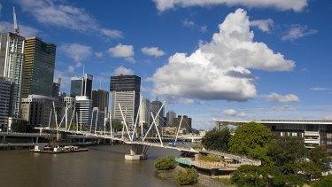 Award-winning architecture ... Brisbane's Kurilpa Bridge.