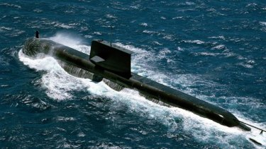 The Collins class submarine HMAS Rankin.