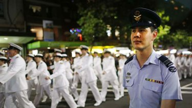 Serving with pride ... members of the Australian Defence Force.