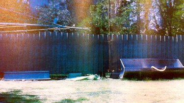 It was said that Hayam Abed had leapt over this six-foot fence.