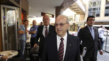 Eddie Obeid arriving at the ICAC inquiry on Monday.