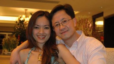 The plot thickens ... Australian businessman Matthew Ng pictured with his wife, Niki Chow.