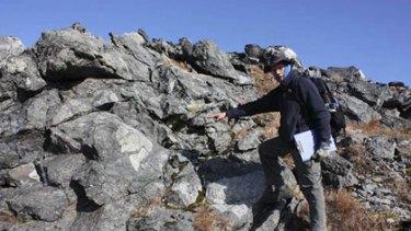Here be uranium: Greenland Minerals' Malcolm Mason at  the Kvanefjeld project in Greenland.