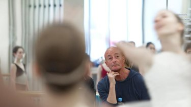 Character building ... dancers rehearse under the scrutiny of Graeme Murphy.