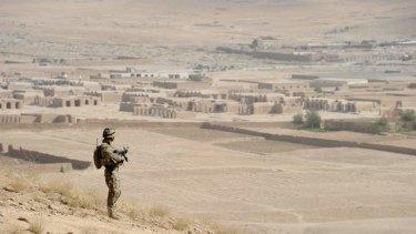 An Australian soldier in Afghanistan.