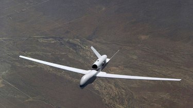 Eye in the sky … the Global Hawk can cover a vast expanse of ocean.