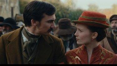 Charles Bovary (Henry Lloyd-Hughes) and Emma Bovary (Mia Wasikowska) in <i>Madame Bovary</i>.