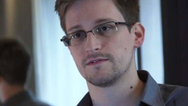 US National Security Agency whistleblower Edward Snowden, an analyst with a US defence contractor, is seen in this still image taken from a video during an interview with the Guardian in his hotel room in Hong Kong June 6, 2013.
