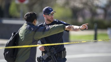 The shooting spree began when the alleged gunman ambushed a police officer.