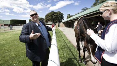 Good times: Patinack Farm owner Nathan Tinkler at the races in 2010.
