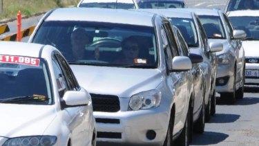 Canberra traffic.